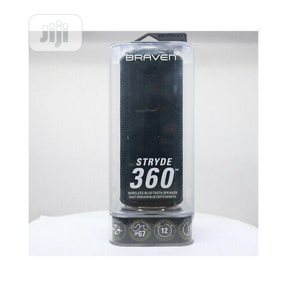 Braven Stryde 360 Wireless Waterproof Bluetooth Speaker | Audio & Music Equipment for sale in Ikotun/Igando, Lagos State, Nigeria