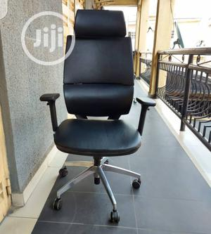 Black Leather Ergonomic Swivel Office Chair | Furniture for sale in Lagos State, Victoria Island