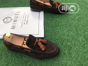 Coffee Brown Suede Loafers Witg Golden Brown Tassle | Shoes for sale in Lagos State, Mushin
