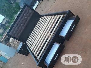 4by6 Bed Frame With Double Down Drawer | Furniture for sale in Lagos State, Ojo