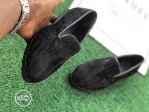 Kids Black Velvet Loafers Shoe | Children's Shoes for sale in Lagos State, Mushin