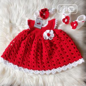 Red Crochet Baby Gown Dress   Children's Clothing for sale in Lagos State, Ikeja