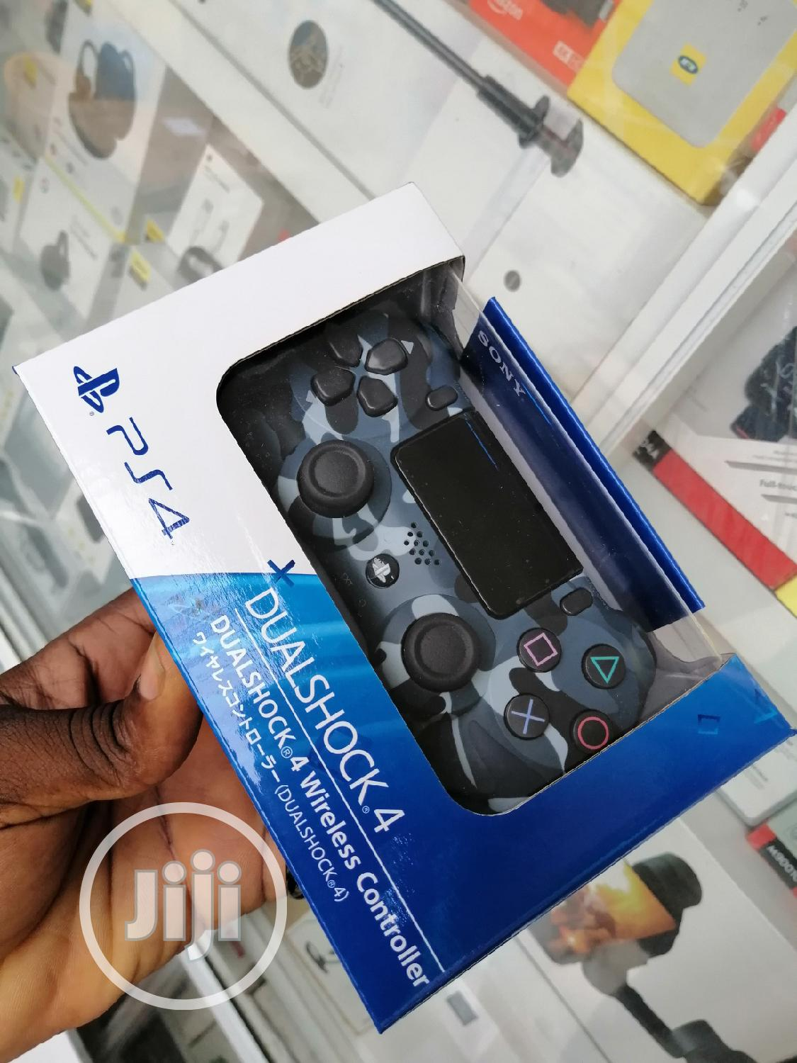 Ps4 Controller Blue Camou   Video Game Consoles for sale in Ikeja, Lagos State, Nigeria