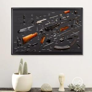 World Pistol Canvas Art Print Painting | Arts & Crafts for sale in Lagos State, Victoria Island