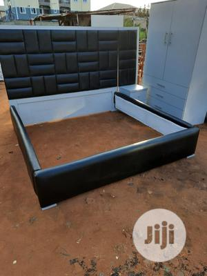 Quality 6×6 Bed With Wardrobe And Bedside | Furniture for sale in Lagos State, Ojo
