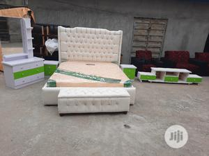 6 By 6 .Bed With Orthopaedic Spring Mattress And Tv Stand | Furniture for sale in Lagos State, Ojo