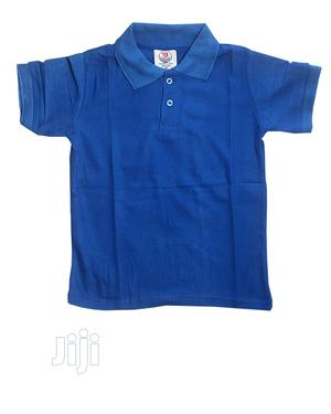 Unisex Short Sleeve Polo Style Top -Royal Blue Sky Blue | Children's Clothing for sale in Lagos State, Ojota
