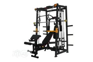 Brand New Smith Machine With Sit Up Bench | Sports Equipment for sale in Rivers State, Port-Harcourt