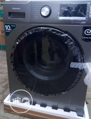 New Hisense (WM1014V) 10kg Wash 7kg Dry Inverter Automatic   Home Appliances for sale in Lagos State, Ojo