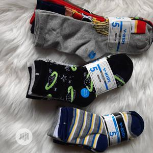 Quality Cotton Boys Socks 5 Per Pack | Children's Clothing for sale in Lagos State, Ikeja