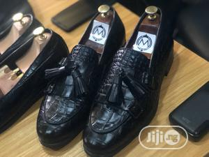 Black Skin Double Monk With Tassel Shoe | Shoes for sale in Lagos State, Mushin