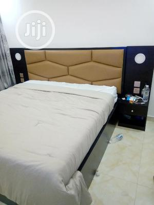 Upholstery Board Bedframe With Light And Changer Soket   Furniture for sale in Lagos State, Ikeja
