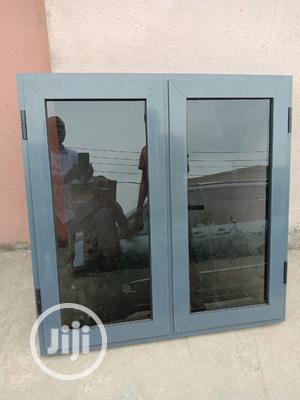 Gray Color Powder Coated Aluminum Casement Windows | Windows for sale in Lagos State, Ikeja