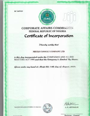 Register Your Business Name & Company With CAC   Legal Services for sale in Anambra State, Awka