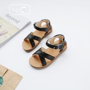 Girls Fashionable Velcro Black Colour Sandal   Children's Shoes for sale in Lagos State, Ikeja