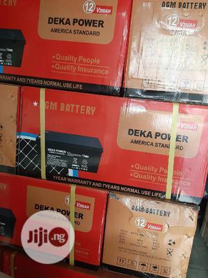 12V 200ah Deka Power Solar Battery | Solar Energy for sale in Lagos State, Ojo