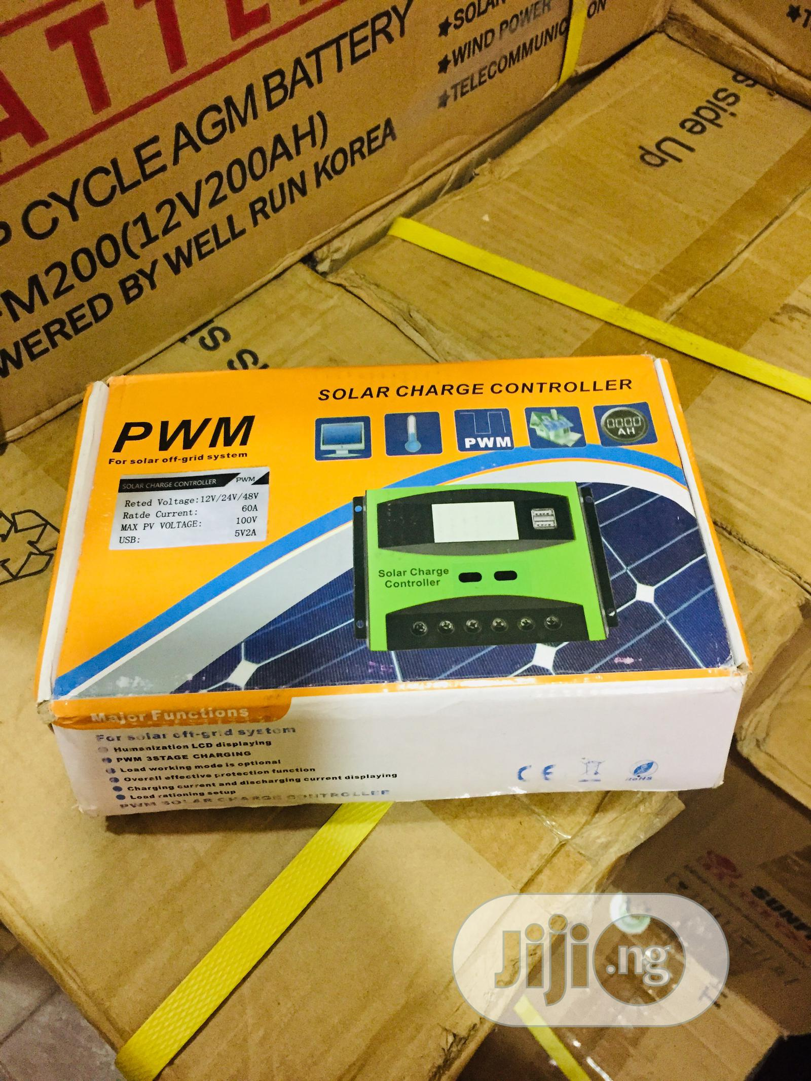 60ah 12/24/36/48v Pwm Charge Controller