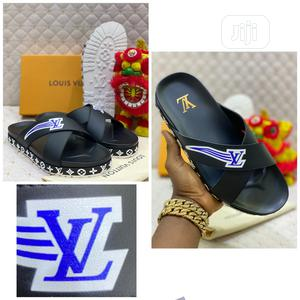 Louis Vuitton Luxury Men Leather Slippers   Shoes for sale in Lagos State, Lagos Island (Eko)
