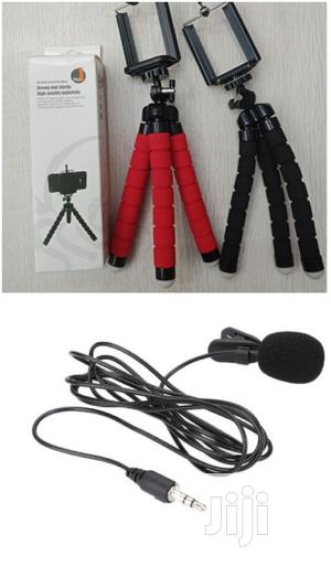 Flexible Octopus Mini Tripod + Lapel Microphone   Accessories & Supplies for Electronics for sale in Lagos State, Ojodu