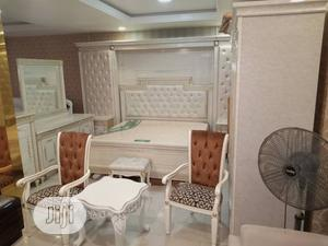 Bedroom Set, Bed Frame, Mirror Stand, Side Table and Stools | Furniture for sale in Lagos State, Ojo