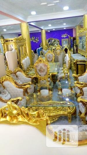 Complete Set Of Gold Colour Royal Sofa And Dining Set | Furniture for sale in Abuja (FCT) State, Central Business District