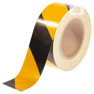 Yellow & Black Colour Self Adhesive Reflective Caution Tape | Safetywear & Equipment for sale in Lagos State, Ikeja