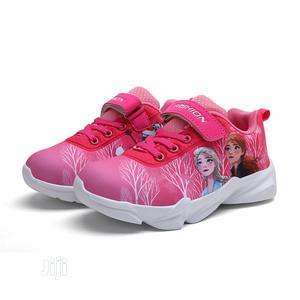 Pink Cartoon Character Walking Sneakers for Toddler Girls | Children's Shoes for sale in Lagos State, Ajah