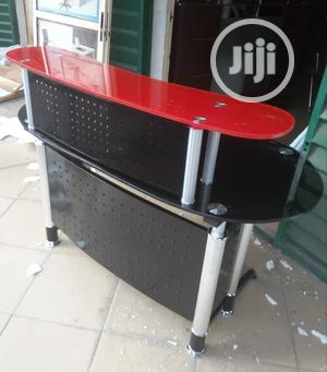 Super Quality Office Glass Receptionist Table With Drawer | Furniture for sale in Abuja (FCT) State, Central Business District