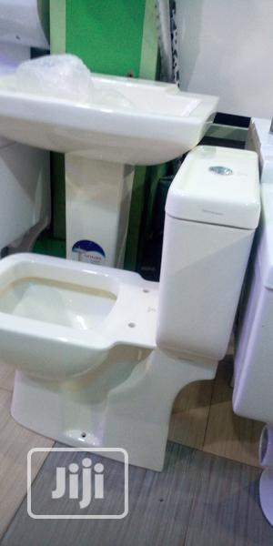 Milk Colour WC With The Wash Hand Basin | Plumbing & Water Supply for sale in Lagos State, Orile