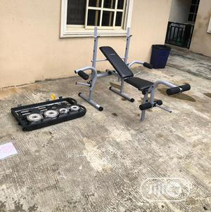 Premium American Weight Lifting Bench With 50kg Dumbbell   Sports Equipment for sale in Lagos State, Maryland
