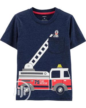 Baby Boy Firefighter Dog Pattern T-Shirt | Children's Clothing for sale in Lagos State, Ajah