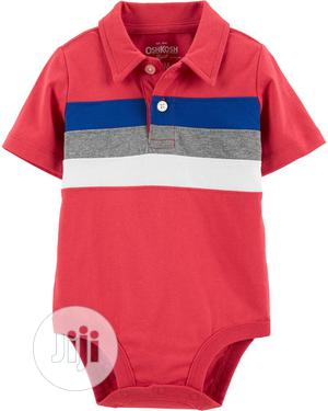 Chest Stripe Jersey Bodysuit   Children's Clothing for sale in Lagos State, Ajah