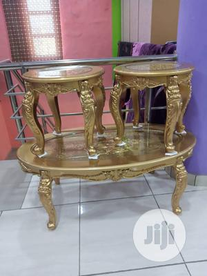 Gold Center Table With Stools | Furniture for sale in Lagos State, Surulere