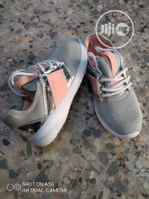Ash and Pink Nautica Sneakers for Girls | Children's Shoes for sale in Lagos State, Lagos Island (Eko)