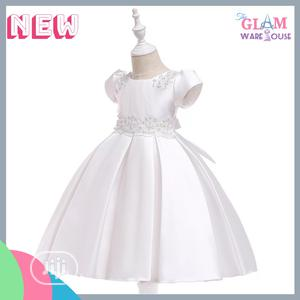 Girls Baptism Graduation Pleated Ball Party Dress 3-7yrs | Children's Clothing for sale in Lagos State, Surulere