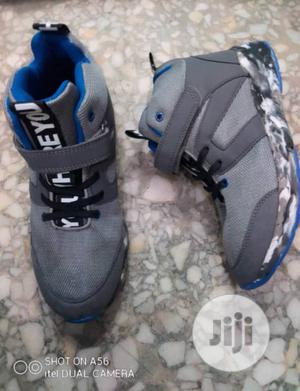 Ash and Blue High Top Sneakers | Children's Shoes for sale in Lagos State, Lagos Island (Eko)