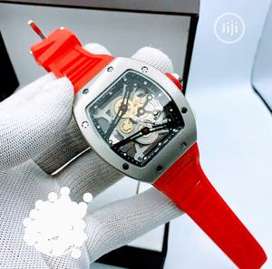 Richard Mille Rubber Strap Watch - Black Red Available | Watches for sale in Lagos State, Surulere