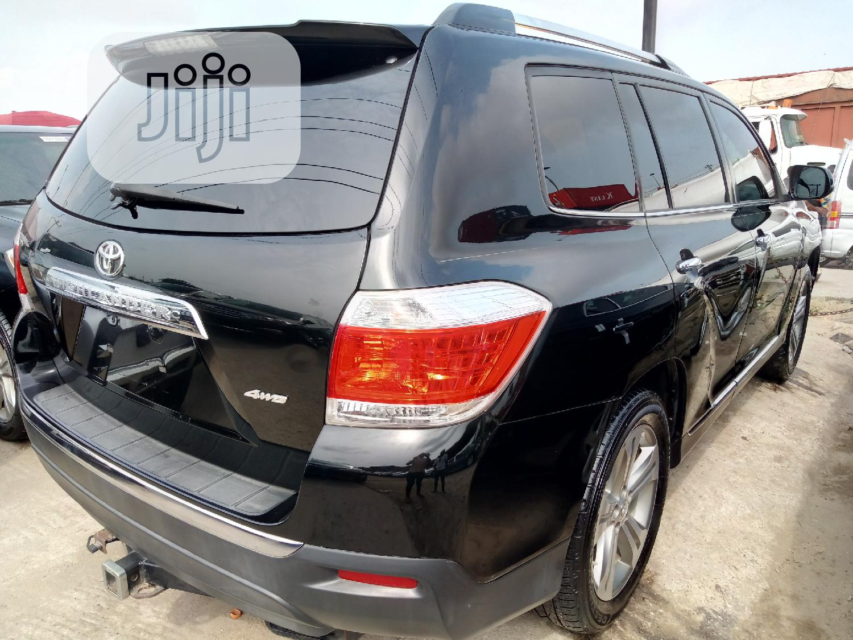 Toyota Highlander 2012 Black   Cars for sale in Apapa, Lagos State, Nigeria