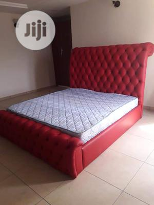 Fully Leather Upholstery Victorian Design Bed. | Furniture for sale in Lagos State, Surulere