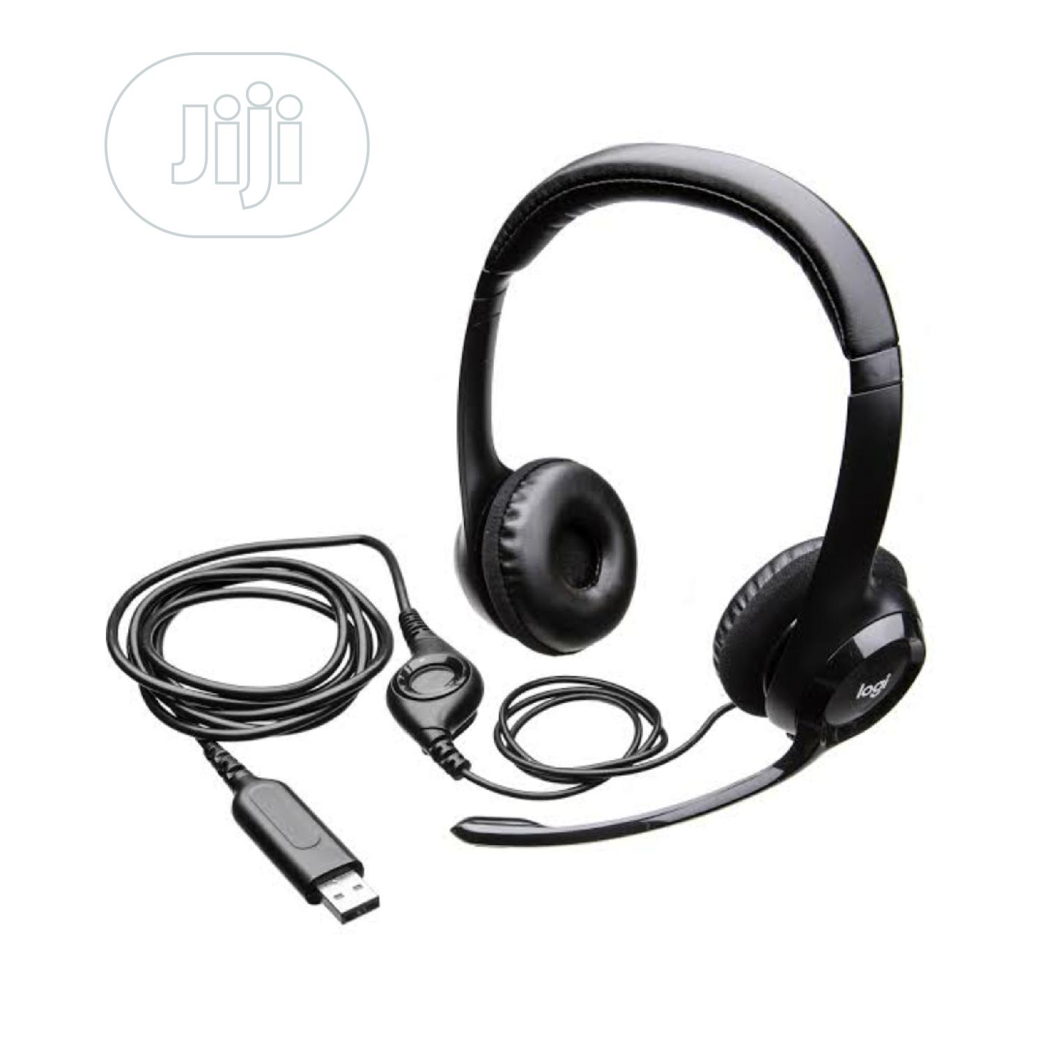 H390 Logitech Headser With Mic And USB Port   Headphones for sale in Ikeja, Lagos State, Nigeria