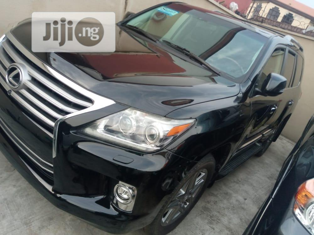 Lexus LX 2015 570 Base Black   Cars for sale in Surulere, Lagos State, Nigeria