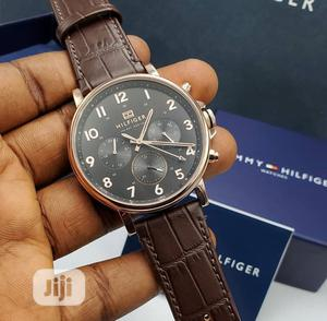 Top Quality Tommy Hilfiger Leather Watch | Watches for sale in Lagos State, Magodo