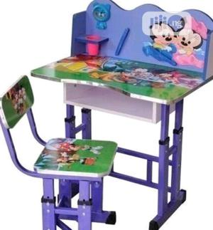 Generic Cartoon Printed Study Table & Chair Set For Kids (Bl | Children's Furniture for sale in Lagos State, Lagos Island (Eko)