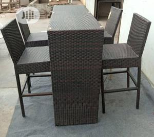 Super Quality Set of Cain High Bar Table With 4 Chairs | Furniture for sale in Lagos State, Ojo