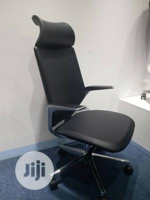 Solid Ergonomic Swivel Office Leather Chair   Furniture for sale in Lagos State, Victoria Island