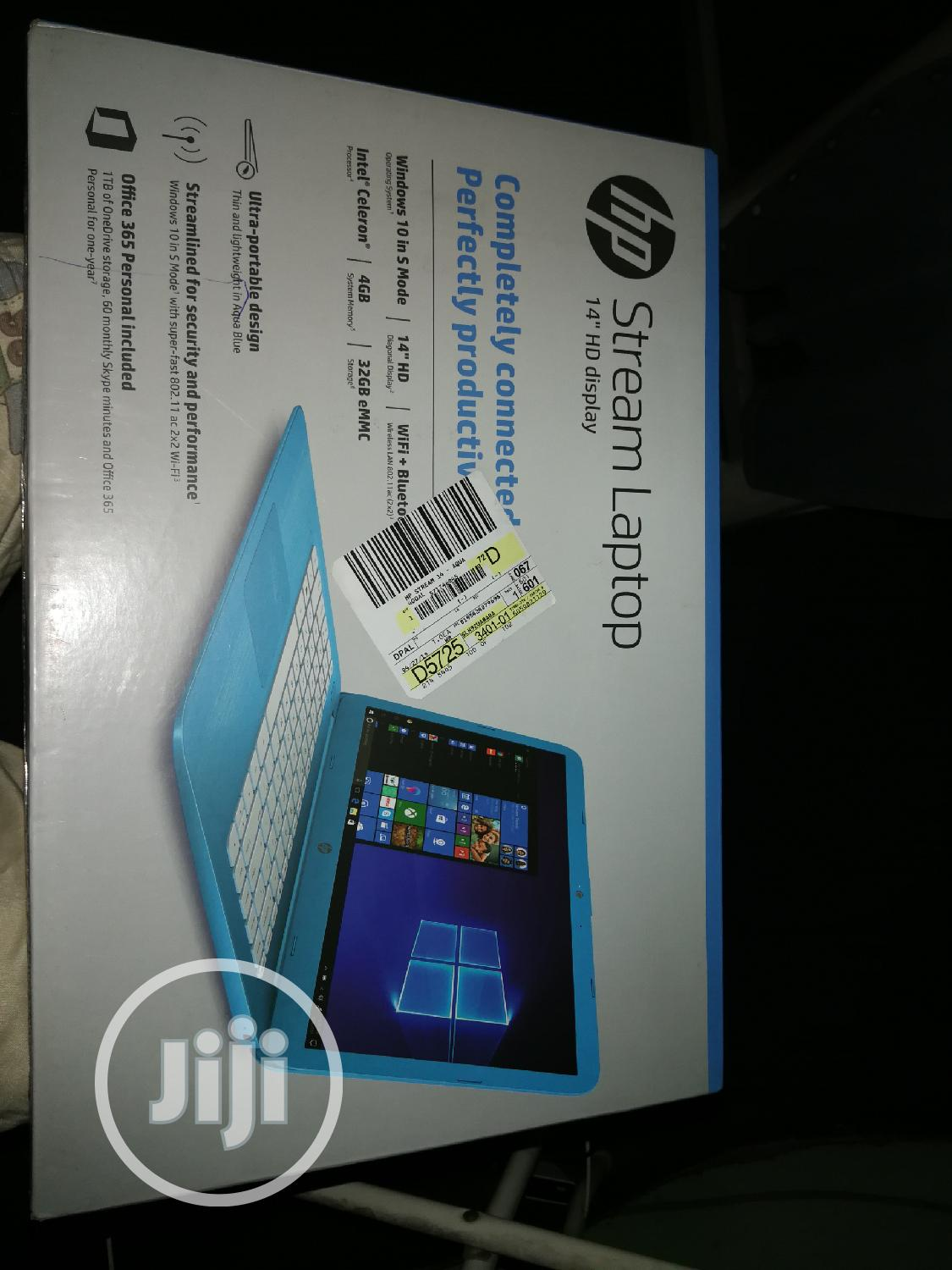 Laptop HP Stream 14-Cb110nr 4GB Intel SSD 32GB   Laptops & Computers for sale in Aba North, Abia State, Nigeria