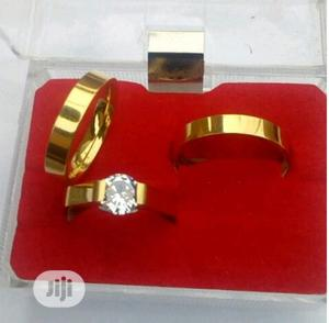 Platinum Gold Plated Wedding Ring Set | Wedding Wear & Accessories for sale in Lagos State, Surulere