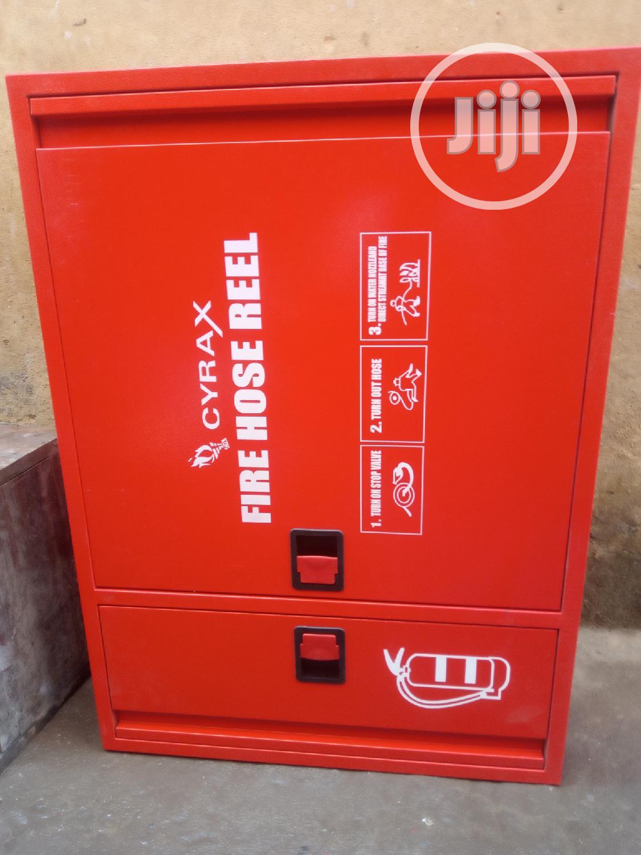 Fire Hose Box With Hose Reel
