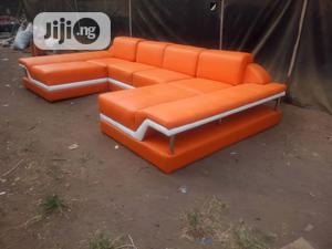 Executive Orange U-Shaped Sofa   Furniture for sale in Lagos State, Ikotun/Igando