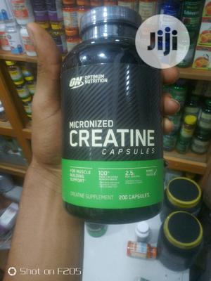 Optimum Nutrition Micronized Creatine Capsules 200 Tablet   Vitamins & Supplements for sale in Lagos State, Yaba